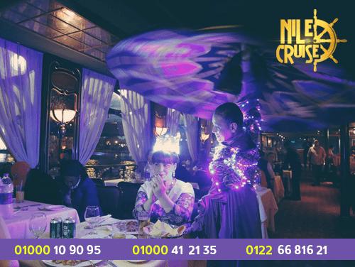 سهرة عشاء نيلية - عروض الرحلات النيلية المتحركة - ارخص الرحلات النيلية